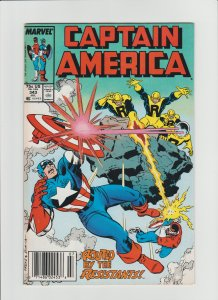 Captain America #343 (1988) VF 8.0 D-Man, Falcon, Nomad, Newsstand Edition!!