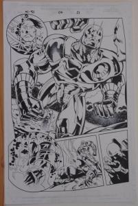 JOE BENNETT / BOB WIACEK original art, X-51 #6 pg 21, 11x17, 2/3rd Splash, 2000