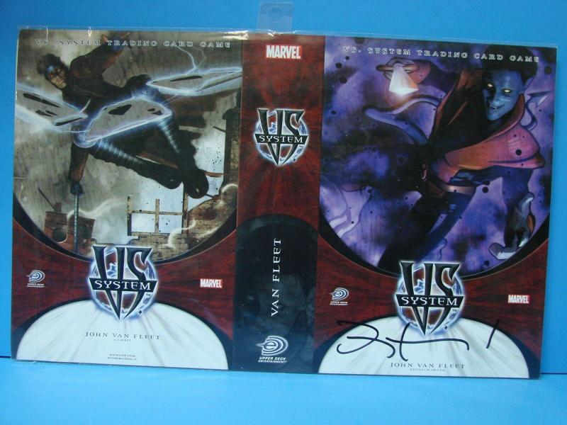 Marvel VS System John Van Fleet Autograph