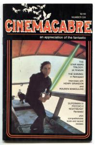 Cinemacabre fanzine #6 1984- Star Wars- THE SHINING