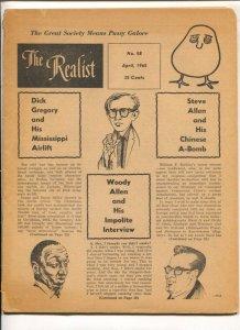 Realist #58 6/1965-Paul Krassner Counter culture magazine-Underground comix t...