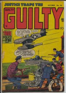 Justice Traps The Guilty #43 1952-Prize-pre-code-Mort Meskin art-VG