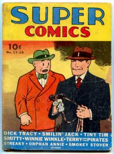 Super Comics #17 1939- Dick Tracy- Smokey Stover- Tiny Tim G+