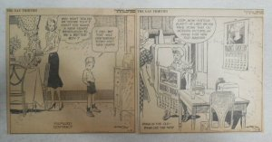(312) The Gay Thirties Panels by Hank Barrow 1939 Size 6 x 6 inches AP Strip