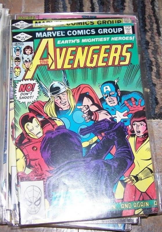 Avengers # 218 (Apr 1982, Marvel) born again + captain america thor ironman wasp