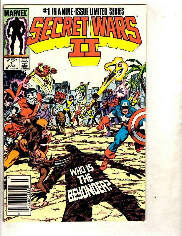 Lot of 9 Secret Wars II Marvel Comic Books 1 2 3 4 5 6 7 8 9 Beyonder DS3