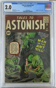 TALES TO ASTONISH #27 (Marvel,1/1962) FIRST HANK PYM- ANT-MAN! CGC 2.0 (Good)