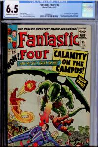 Fantastic Four #35 CGC 6.5 OW/WHITE pages  Intro & 1st app Dragon Man