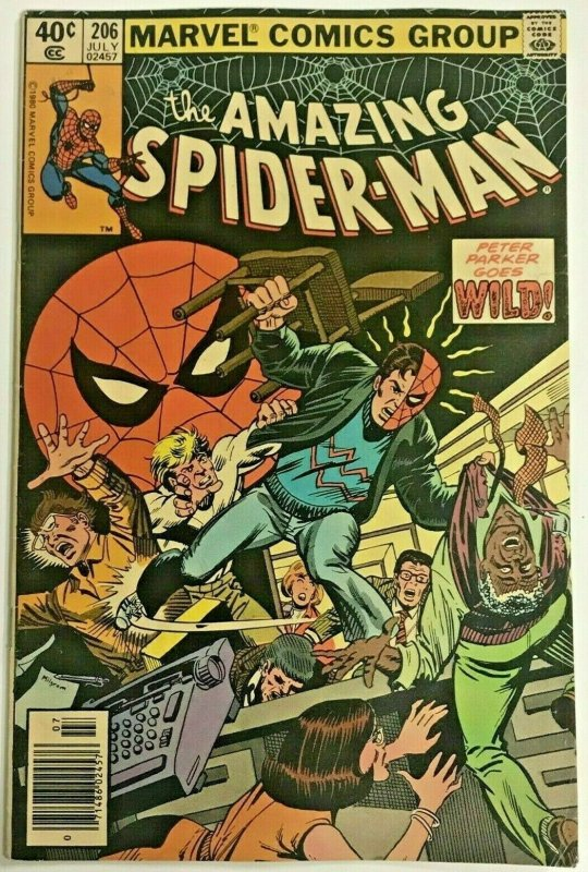 AMAZING SPIDER-MAN#206 VG/FN 1981 MARVEL BRONZE AGE COMICS