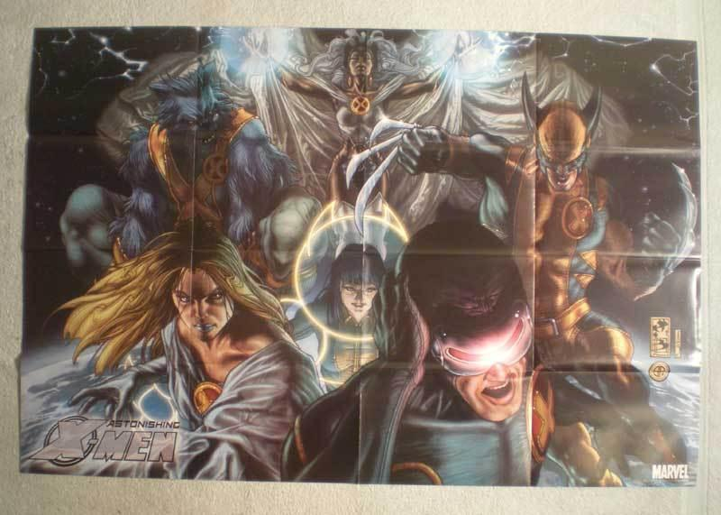 ASTONISHING X-MEN Promo Poster, 36x24, 2008, Unused, more Promos in store