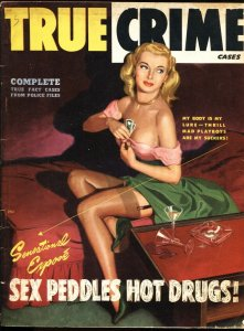 TRUE CRIME CASES-May 1949-Rodewald cvr-GGA-Drugs-Spicy!