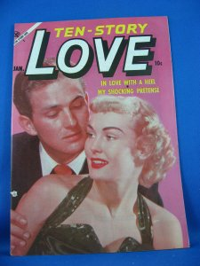 TEN STORY LOVE Vol 35 #1 VF+ 1954 Photo Cover