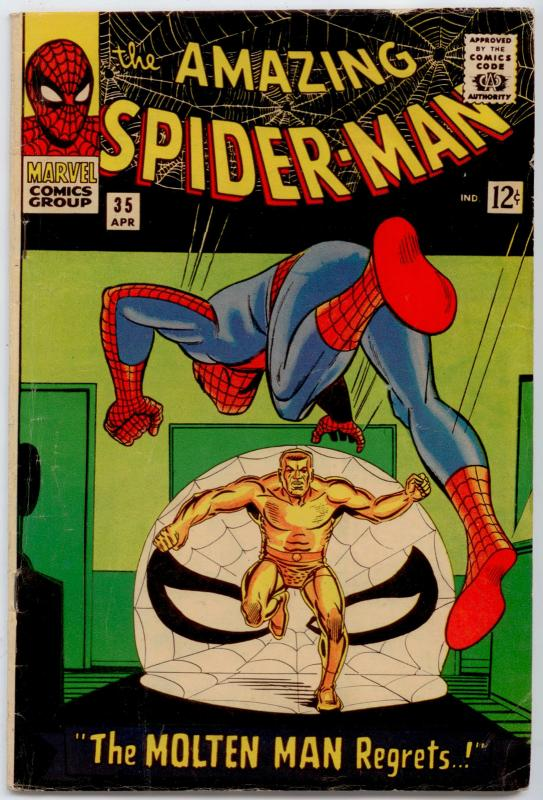 Amazing Spider-Man  #35 VG+ 4.5  2nd City Pedigree; 2nd app  of Molten Man
