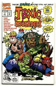 TOXIC CRUSADERS #1-comic book-SAM KEITH COVER-1992-MARVEL