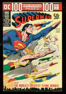SUPERMAN #252 1972-HAWKMAN-DC 100 PAGE GIANT-NEAL ADAMS VG