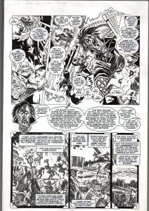 TOD SMITH ELVIRA THE HAUNTING PART 3 ORIGINAL ART PAGE 2-QUEEN 'B' PRODUC FN