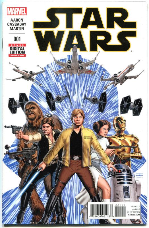 STAR WARS #1, VF+, Luke Skywalker, Darth Vader, 2015, more SW in store