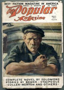 Popular Pulp Magazine December 7 1920-Theodore Seixas Solomons-Edgar Wallace
