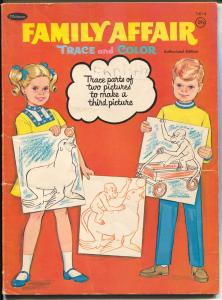 Family Affair Color and Trace Book #1414 1969-Nathalee Mode-TV Series-G/VG
