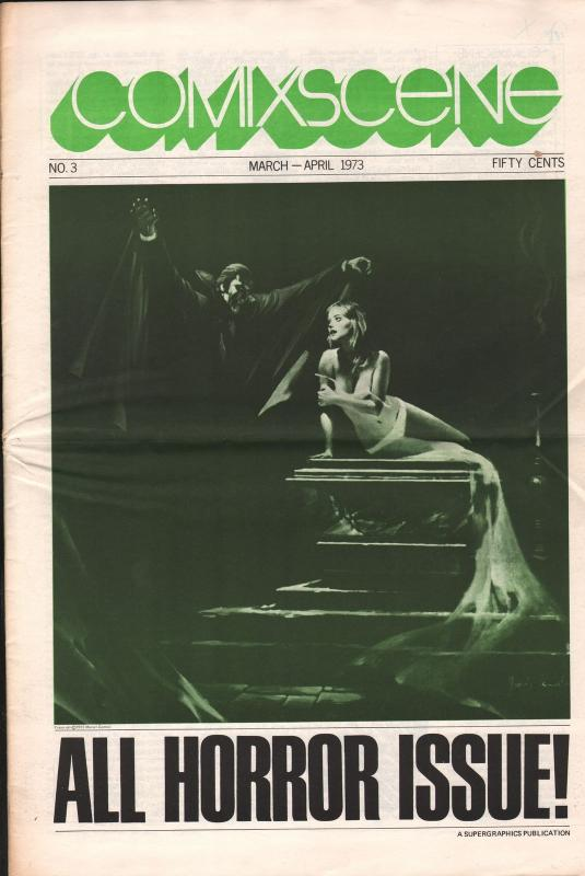 Comixscene 4/1973-all horror-issue-pulp horror-pre-code horror comics-FN+