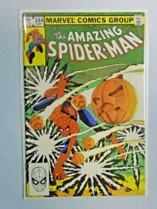 Amazing Spider-Man #244 Direct 1st Series water damage 4.0 VG (1983)