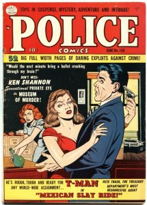 POLICE COMICS #106-1951-PRIVATE EYE-T MAN-PICT O CRIME-REED CRANDALL ART-QUALITY