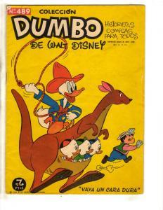 Coleccion Dumbo De Walt Disney #489 Donald Duck Spanish Language Comic Book J306