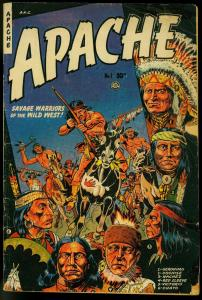 APACHE #1 1951-GERONIMO-FICTION HOUSE-WESTERN G/VG