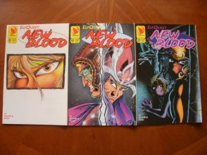 3 Near-Mint Warp ELFQUEST Comic NEW BLOOD #21 #22 #23 (1994) Blair Pini Chan