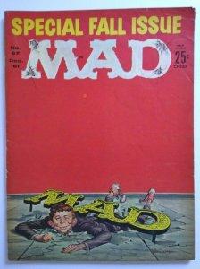 MAD Magazine Fall Cover Dec 1961 Issue No 67 JFK Parody Kool Aid Drink AD Skull