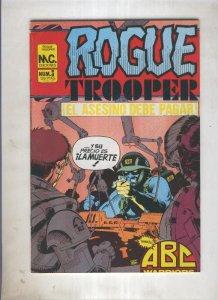 Rogue Trooper numero 3: El asesino debe pagar (numerado 1 en trasera)