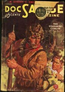 DOC SAVAGE 1934 AUG-RARE ISSUE-BAUMHOFER COVER G