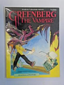 Greenberg the Vampire GN (1986 Marvel) #1, 8.0/VF - 1986