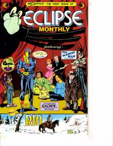 Lot Of 5 Eclipse Monthly Eclipse Comic Books #1 2 3 4 5   WT15