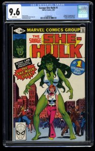 Savage She-Hulk #1 CGC NM+ 9.6 White Pages