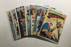 Superman 281-285 287-290 Lot Run Set Very Fine/Near Mint 9.0 Dc Comics