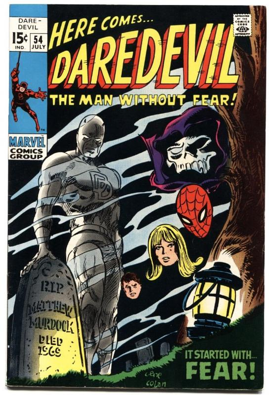 DAREDEVIL #54-1969-MARVEL SILVER-AGE-HIGH GRADE COPY