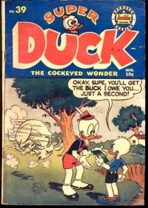 SUPER DUCK #39-ARCHIE-BABE RUTH-1951-FUNNY AN VG