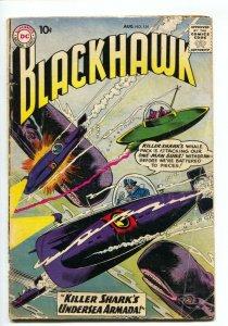Blackhawk #139 1959- Killer Shark's Armada- DC Silver Age G/VG