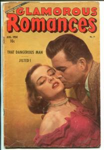 Glamorous Romances #77 1954-Ace-photo cover-spicy ice skater poses-G