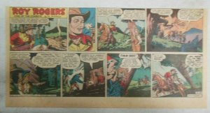 Roy Rogers Sunday Page by Al McKimson from 2/10/1952 Size 7.5 x 15 inches