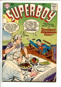 SUPERBOY #59-1957-MA & PA KENT COVER-SUPERBOY'S UNDERGROUND EXILE-fn