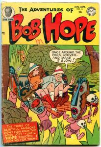Adventures of Bob Hope #16 1952- Skull & Natives cover- DC Golden Age VG