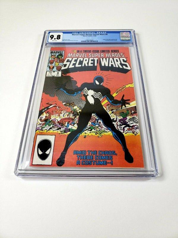 MARVEL Super Heroes SECRET WARS #8 CGC 9.8 White Pages SYMBIOTE SPIDER-MAN!