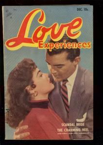 LOVE EXPERIENCES #22 1953-PHOTO COVER-SCANDAL BRIDE-ART VG