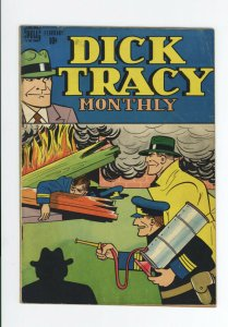 DICK TRACY MONTHLY #2 VG/FN  - VERY VIOLENT - VERY SCARCE ISSUE - 1948
