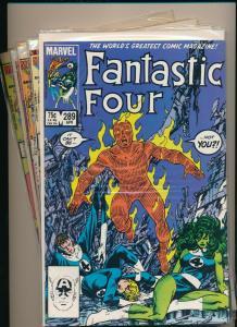 MARVEL LOT of 5-FANTASTIC FOUR #289-290, 292-294  (1985/'86) F/VF (PJ107)