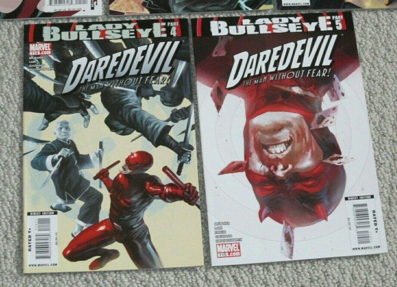 Complete Daredevil Lady Bullseye #111-115 VF+ #1 Variant Edition Marvel Comics