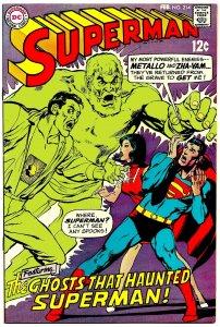 SUPERMAN #214 (Feb1969) 8.0 VF  Neal Adams cover!  Curt Swan!  Al Plastino!