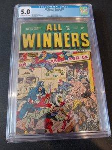 ALL WINNERS #16 CGC 5.0 ALEX SCHOMBURG COVER